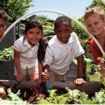 Gardening students