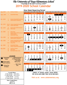 university of utah 2020 calendar