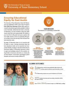 UT Elementary Endowment Flyer page 1