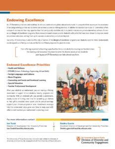 UT Elementary Endowment flyer Page 2